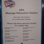 Chair massage sponsorship sign