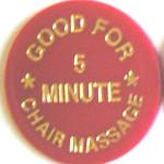 chair massage token