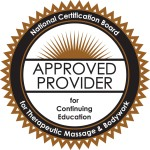 NCBTMB Approved CE Provider Massage Logo