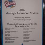 Chair massage sponsorship sign