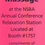 Seated Massage Coupon